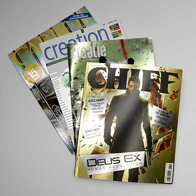 Speciale boek- en magazinecovers